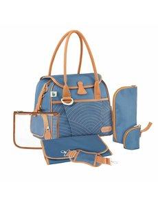 Babymoov Sac à langer Style Bag A043589 Bleu avec rayures - 36 x 28 x 21,5 cm