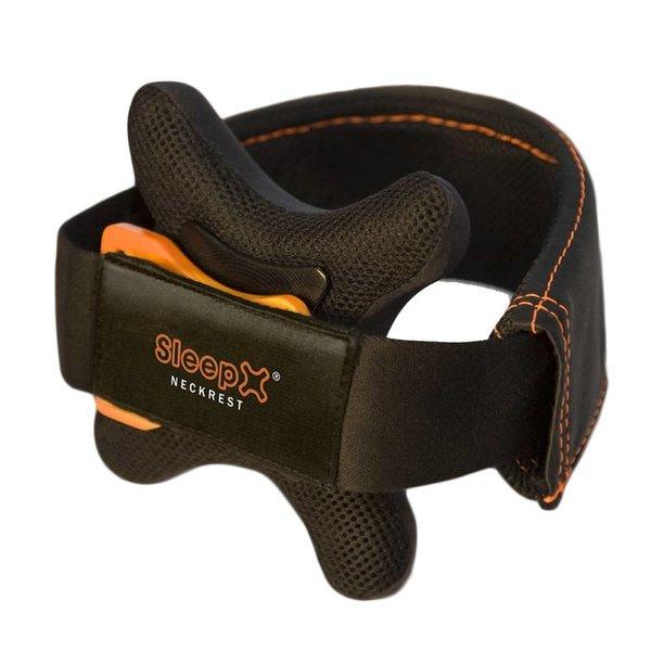SleepX EINDELIJK KAN JE SLAPEN IN ECONOMY-CLASS! De nieuwe SleepX Neckrest® is het eerste reiskussen dat de perfecte ondersteuning biedt. Het zachte hoofdkussen past perfect tussen de borst en kin en voorkomt dat je hoofd voorover, of naar opzij, valt.