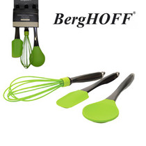 3 piece utensil set lime green