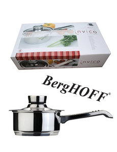 "BergHOFF Steelpan met glazen deksel"" Invico vitrum"" D.16cm"