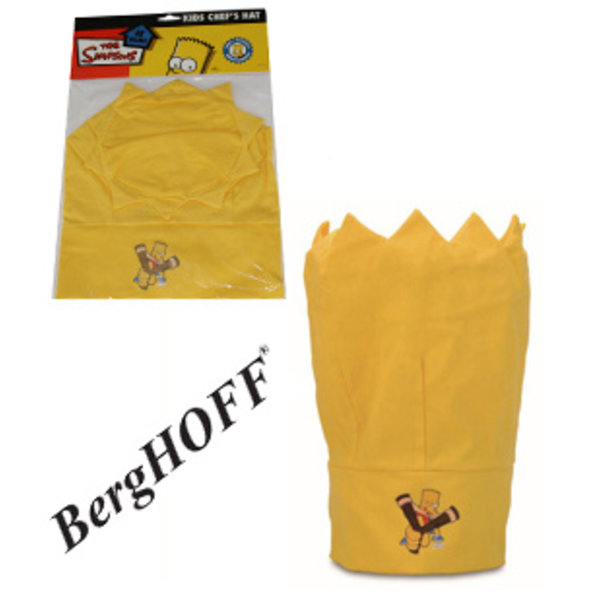 """BergHOFF Chapeau de chef pour enfant jaune """"Les Simpson"""""""