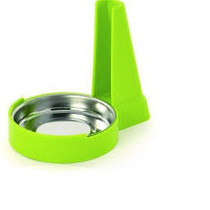 CooknCo spoon holder - green / white