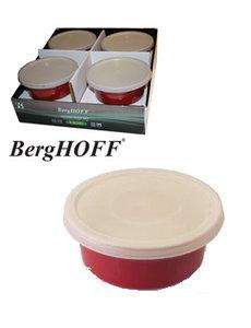 BergHOFF Ovenschoteltjes rond rood  D.14,5xH.6.5cm (2x)