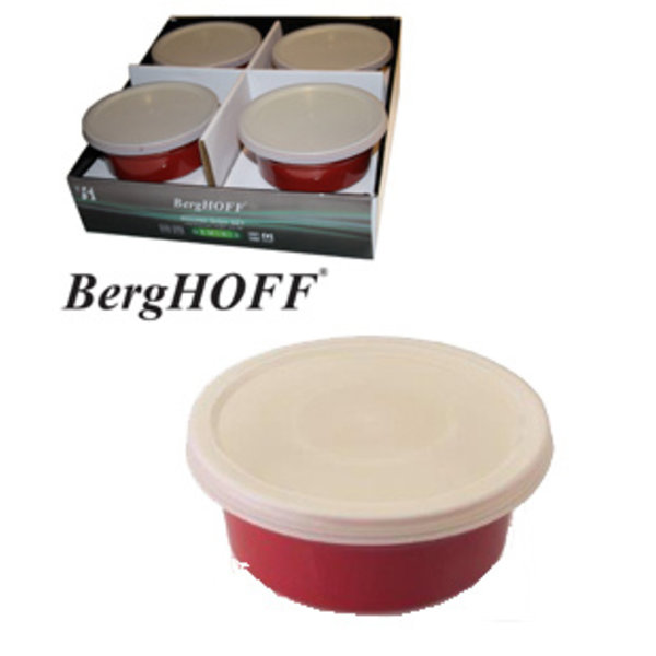 BergHOFF Oven dishes round red D.14.5xH.6.5cm (8x)