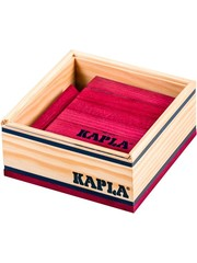 Kapla Kapla, 40 planks of colored plum red