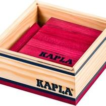 Kapla,40 plankjes gekleurd pruim rood