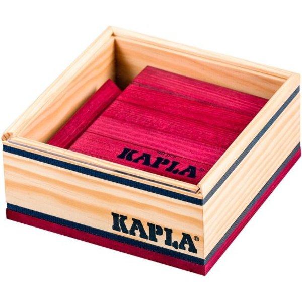 Kapla Kapla,40 plankjes gekleurd pruim rood