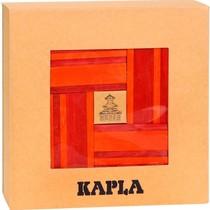 Kapla, boekje + 40 rode en oranje plankjes