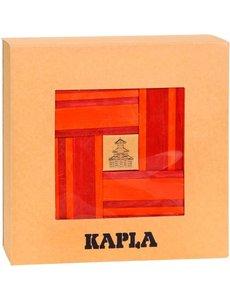 Kapla Kapla, booklet + 40 red and orange shelves
