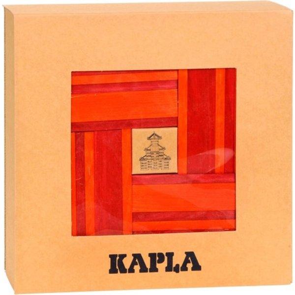 Kapla Kapla, livret + 40 étagères rouges et orange