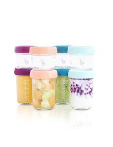Babymoov Babybols - 8 Glazen bewaarpotjes 120 en 240 ml - Hermetisch afsluitbaar - Inclusief bioreceptenboekje