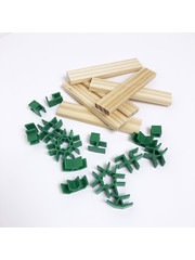 Van Dijk Join Clips for wooden 'Kapla' blocks 56 clips + 10 blocks