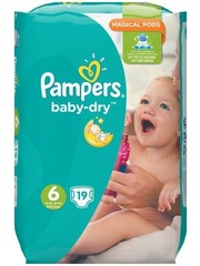 Pampers Couches Pampers Baby Dry taille 6-19 pcs