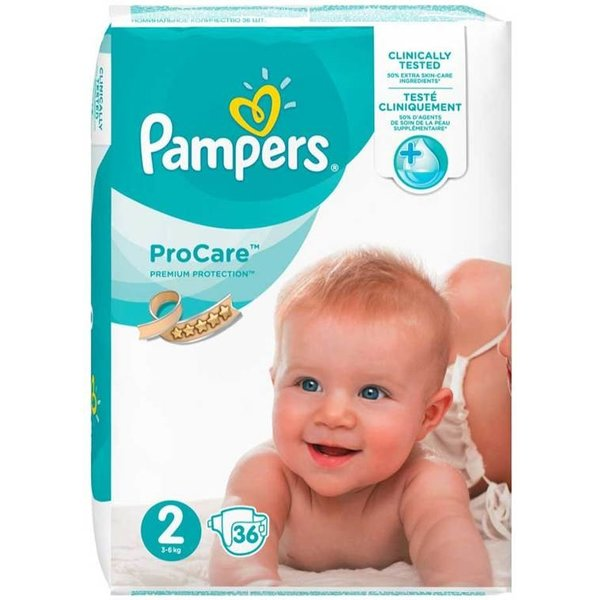 Pampers Couches Pampers Procare Premium Protection Taille 2-36