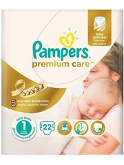 Pampers Premium Care Baby Diapers Size 1 - 22 diapers