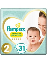 Pampers Pampers Permium Protection Diapers - Size 2 - 4 to 8kg