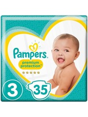 Pampers Pampers Premium Protection - Taille 3 (Midi) 6-10 kg - 35 Pièces - Couches