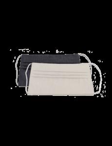 Pavelinni Masque buccal en tissu lavable - Anthracite / Blanc cassé