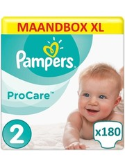 Pampers Procare Premium Protection Size 2 - 180 Diapers Monthly Box XL