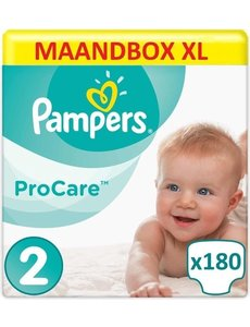 Pampers Procare Premium Protection Maat 2 - 3/6KG - 180 Luiers Maandbox XL