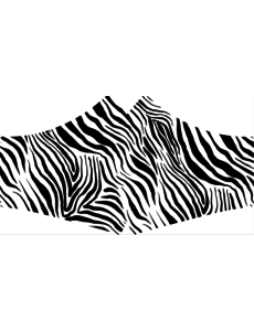 SANS Masque confort Zebra avec élastiques