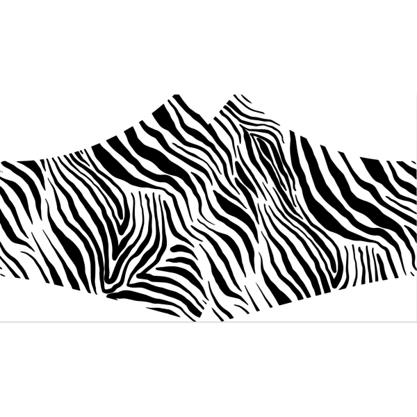 SANS Comfortmasker Zebra met elastieken