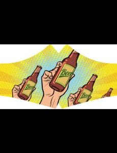 SANS Mondkapje wasbaar - Bier met elastieken