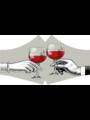 SANS Masque buccal lavable - Vin rouge avec rubans