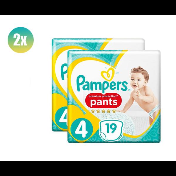 Pampers PAMPERS ACTIVE NAPPIES PANTS SIZE 4 19'S - set van 2 stuks