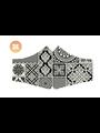 SANS Masque confort noir et blanc avec élastiques - lot de 3