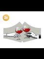 SANS Masque de confort Red Red Wine avec élastiques - lot de 3