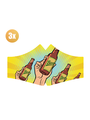 SANS Masque confort Bière aux élastiques - lot de 3