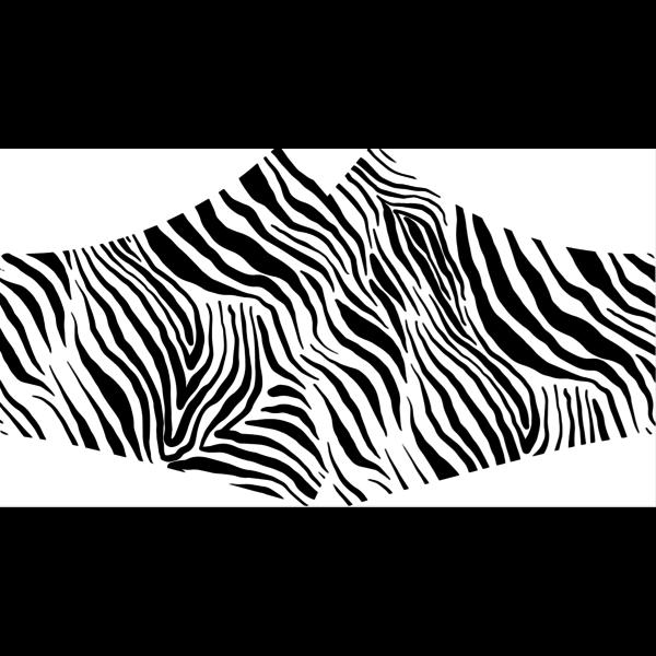 SANS Comfortmasker Zebra  met linten