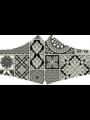 SANS Masque buccal lavable - Noir & Blanc avec rubans