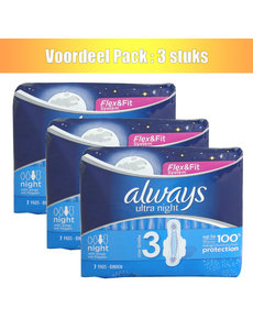Always Always pads 7x ultra night with wings - lot de 3