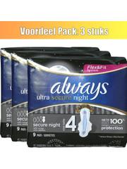 Always Always pads  Ultra secure night with wings - set van 3