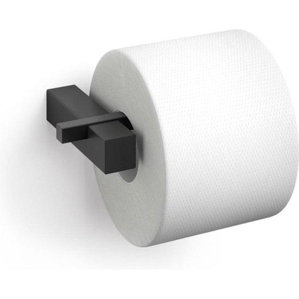 Zack Zack carvo toiletrolhouder - zwart - horizontaal