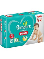 Pampers Pantalon Pampers n ° 4 Baby Dry Boîte 40x