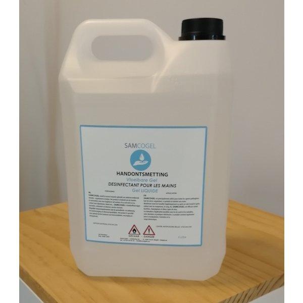 SAMCOGEL Gel liquide pour les mains 80% 5 litres