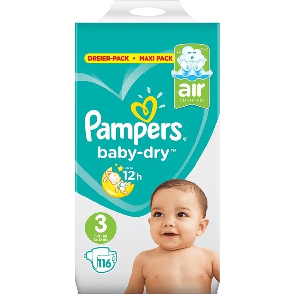 Pampers Pampers nr 3 Baby-Dry  116x