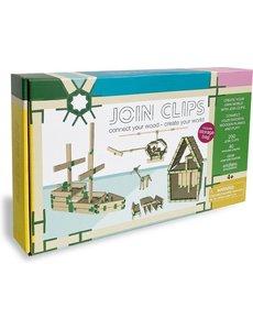JOIN CLIPS Home - 200 verbinding clips voor houten bouwplankjes incl speelkleed