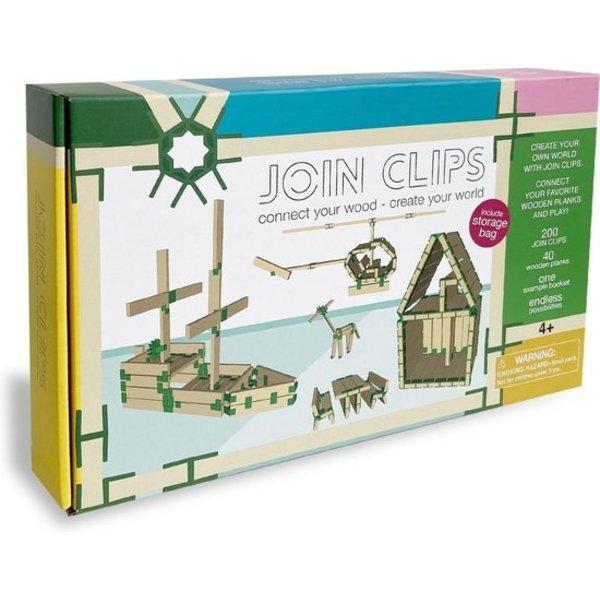 JOIN CLIPS Home - 200 clips de connexion pour panneaux de construction en bois avec tapis de jeu