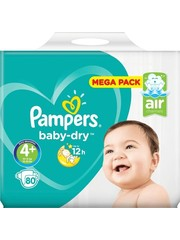 Pampers Pampers nr4+ Baby-Dry 80x