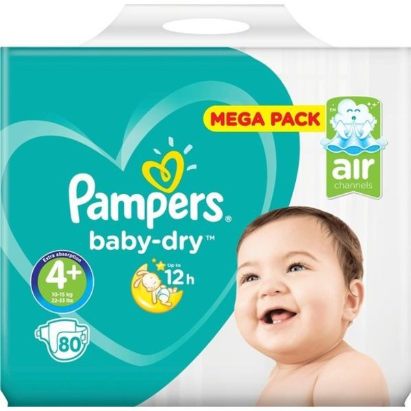 Pampers Pampers nr4 + Baby-Dry 80x