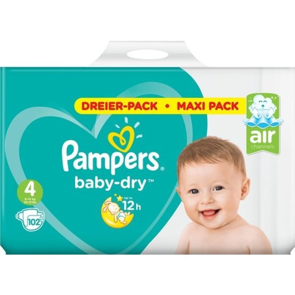 Pampers Pampers nr4 Baby-Dry 102x