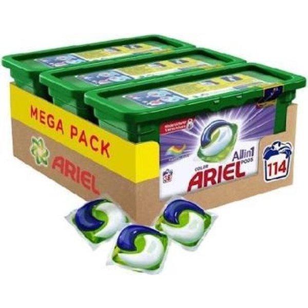 ariel Ariel All in 1 Pods Color Detergent 114 pièces - Quart de boîte 3 x 38 Lavages - Capsules de détergent