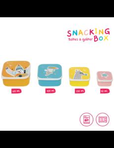 Set van 4 Snacking boxen