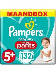 Pampers Pampers Baby Dry Pants Taille 5+ - 132 Diaper Pants Boîte mensuelle