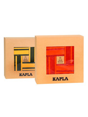 Kapla 40 Shelves red / orange + 40 Shelves yellow / green