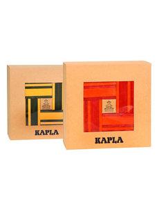 Kapla 40 Plankjes rood/oranje + 40 Plankjes geel/groen